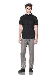 ZAK Men's Short Sleeve Woven Shirt (Black)