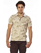 Do U Speak Green? Men's Polo Organic Cotton T-Shirt (DUSG_224_Beige_XX-Large)