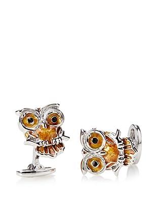 Jan Leslie Yellow Winking Owl Cufflinks