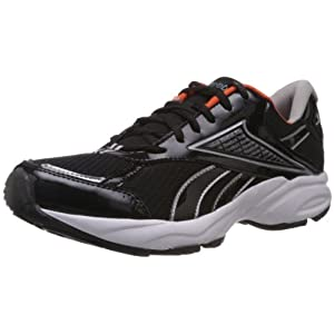 Reebok Men's Linea Lp Black and Silver Mesh Running Shoes  - 9 UK
