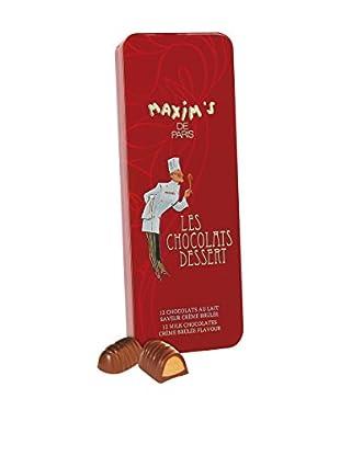 Maxim's de Paris Tin of 12 Crème Brûlée Flavor Milk Chocolates