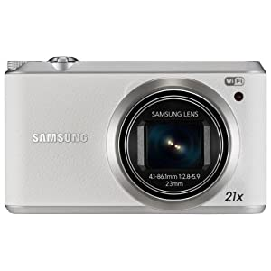 Samsung WB350F 16.1 MP Point and Shoot Camera (White) with 21X Optical Zoom, 4GB MicroSD Card and Camera Case