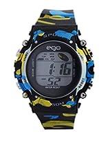 Ego by Maxima Digital Black Dial Men's Watch - E-37190PPDN