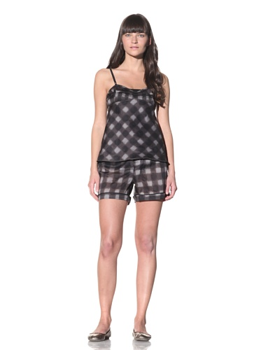 MARNI Women's Pintucked Camisole (Charcoal Grey)