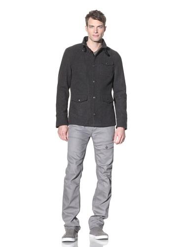 i.am Men's Button-Up Jacket (Charcoal Mix)