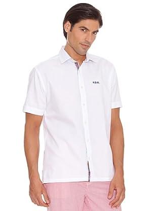 Pedro Del Hierro Camisa Oxford Bordado (Blanco)