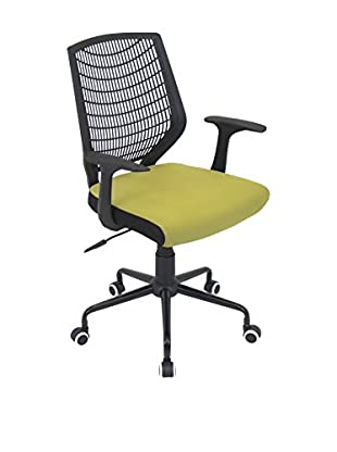 LumiSource Network Office Chair, Black/Green
