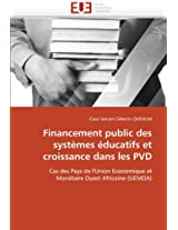 Financement Public Des Systemes Educatifs Et Croissance Dans Les Pvd