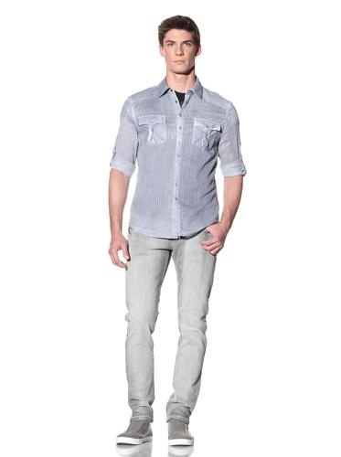 Rogue Men's Overdyed Snap Front Shirt (Light Blue)