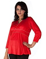 Dressy Hot Red Evening Top