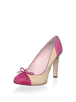 Red Valentino Women's Cap Toe Pump (Pink/Beige)