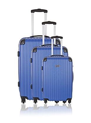 Travel ONE Set de 3 trolleys rígidos Aligara Azul