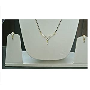American Diamond Mangalsutra Set only by fashionite13