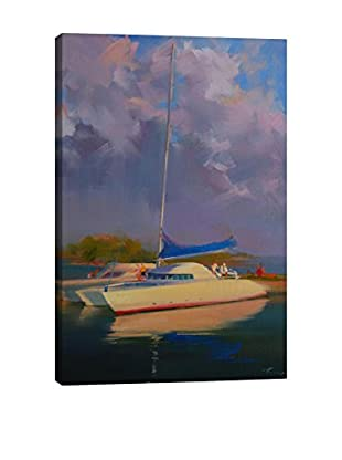 Yuri Pysar Summer Boats Gallery-Wrapped Canvas Print