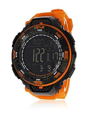 Pit Lane Uhr mit Miyota Uhrwerk Pl-2003-3 orange 50 mm