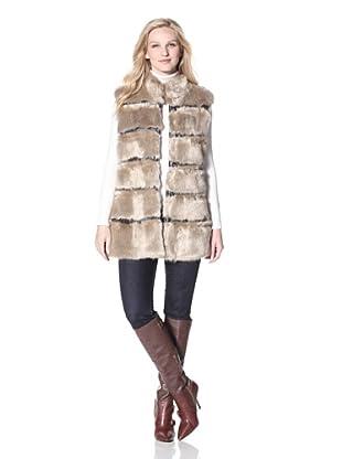 Via Spiga Women's Faux Fur Vest (Beige)