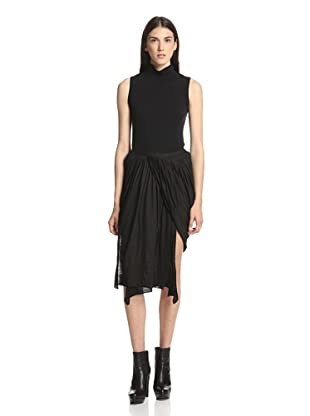 Rick Owens Lilies Women's Panel Skirt (Black)