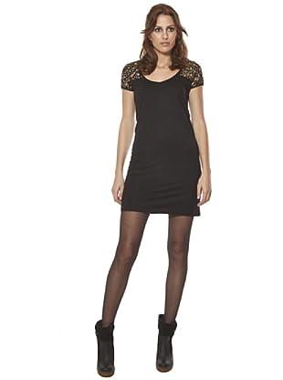 Cuplé Vestido Bordados (Negro)