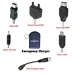 CallMate USB and 5-in-1 Emergency charger Blue