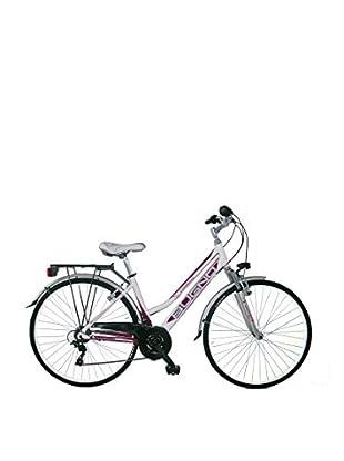 GIANNI BUGNO Bicicleta Aluminum Trekking Suspension Blanco / Malva