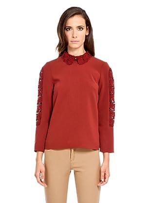 Pedro del Hierro Blusa Crochet (Rojo)