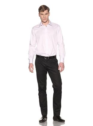 Valentino Men's Dress Shirt (Light Purple/White Pattern)