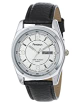 Armitron Men's Black Leather Analogue Watch - 201927SVBK