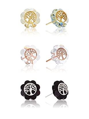 Cordoba Jewelles Ohrring-Set X 3 Sterling-Silber 925