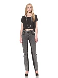 D&G by Dolce & Gabbana Women's Stone Wash Jean (Black)