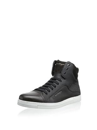Salvatore Ferragamo Men's High-Top Sneaker (Chocolate/Nero)