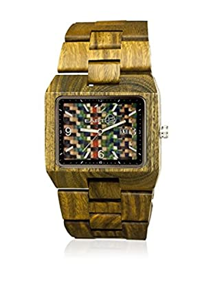 Earth Reloj con movimiento cuarzo japonés Unisex Rhizomes Ethew1208 Oliva 46 mm