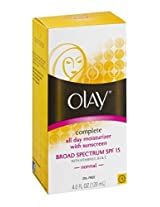 Olay Complete Day Moisturizer SPF 15 Normal, 4 OZ (Pack of 3)