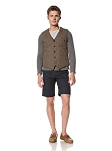 Creep by Hiroshi Awai Men's Quilted Vest (Army Green)