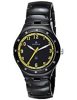 Maxima Aluminium Analog Black Dial Men's Watch - 23795CMGB