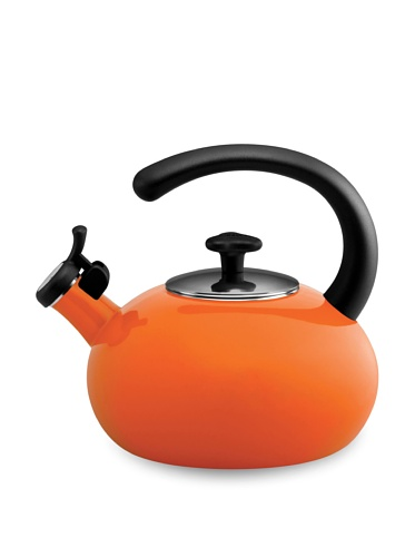 Rachael Ray 2-Qt. Porcelain Curve Tea Kettle (Orange)
