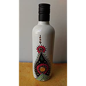 Artiliciously Your'S Indian Art Painting On Recycled Glass Bottle