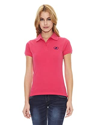 Polo Club Polo Manga Corta Custom Fit Small Horse (Fucsia)