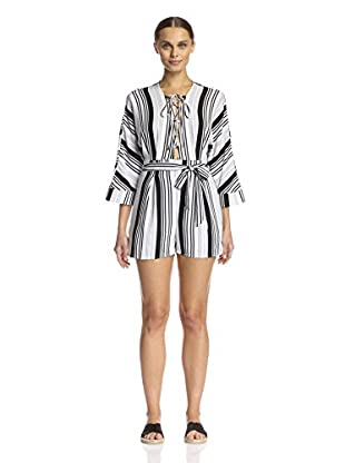 Lucca Couture Women's Lace-Up Romper