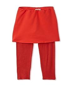 eggi kids Girl's Fold-Over Capris (High Risk Red)