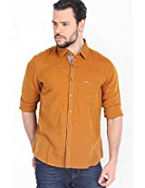 Solid Rust Casual Shirt