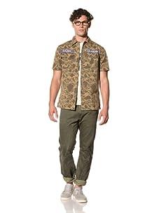 Under 2 Flags Men's Usaf Camo Shirt (Elm Green Camo)