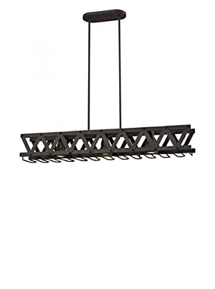 Artistic Lighting Iron Truss 3-Light Billiard/Island Chandelier, Vintage Rust Finish