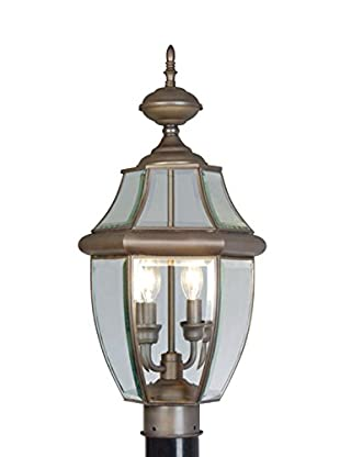 Crestwood Marigold 2-Light Post Head, Bronze