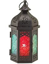 Abstract Ideas Metal and Glass Candle Lantern (56x22 cms, ABSI-20)