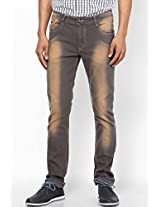 Grey Slim Fit Jeans John Players