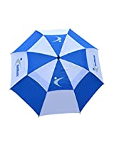 "GolfBasic Manual Open 30"" Umbrella (Blue/Wh)"
