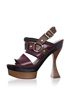 MARNI Women's Slingback Platform Sandal (Burgundy)