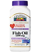21st Century Fish Oil 1200 Mg Softgels, 90-Count