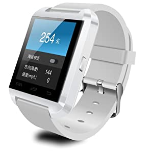 LeexGroup?2014 U8 Bluetooth Smart Touch Screen Watch Phone for Android System HTC ONE M7 Sony Xperia Samsung Galaxy S2/S3/S4/S5 Note 2/Note 3 i9100 i9220 i9300 i9500 i9600 N7100... White