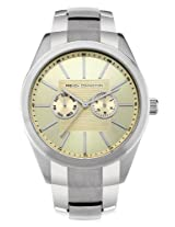 FCUK Analog Gold Dial Men's Watch - FC1077SCM